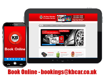 tablet and mobile phone asking to book online